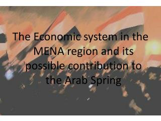 The  Economic system  in  the  MENA  region and its possible contribution to the Arab  Spring