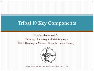 Tribal 10 Key Components