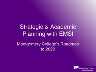 Strategic & Academic Planning with EMSI