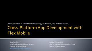 Cross-Platform App Development with Flex  Mobile