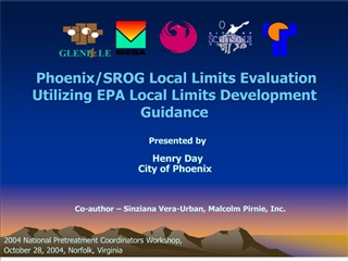 phoenixsrog local limits evaluation utilizing epa local limits ...