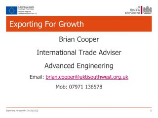 Exporting For Growth