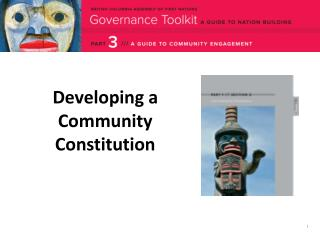 Developing a  Community Constitution