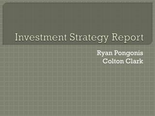 Investment Strategy Report