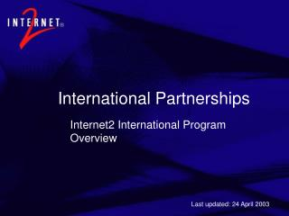 International Partnerships