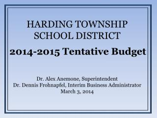 HARDING TOWNSHIP SCHOOL DISTRICT