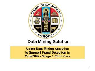 Data Mining Solution