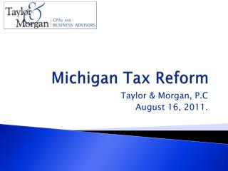 Michigan Tax Reform