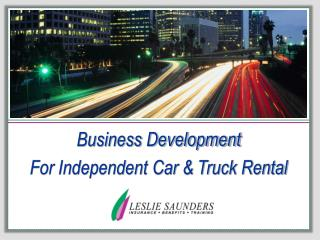 Business Development For Independent Car & Truck Rental