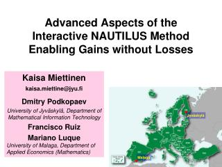 Advanced Aspects of the  Interactive NAUTILUS Method  Enabling Gains without Losses