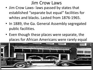 Jim Crow Laws