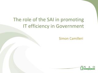 The role of the SAI in promoting IT efficiency in Government