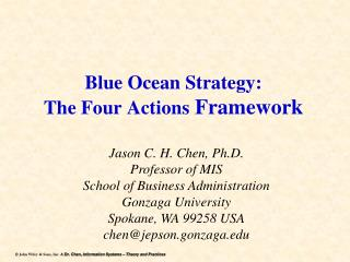 Blue Ocean Strategy: The Four Actions  Framework