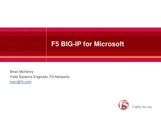 F5 BIG-IP for Microsoft