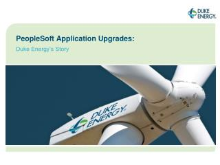 PeopleSoft Application Upgrades: