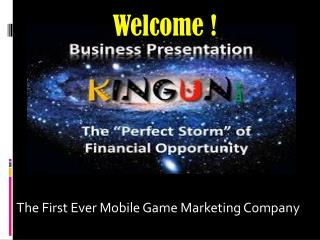 The First Ever Mobile Game Marketing Company