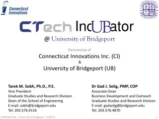 Inc    ator @  University of Bridgeport