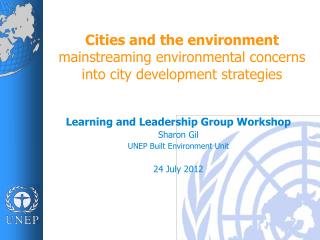 Cities and  the environment mainstreaming environmental concerns into city development strategies