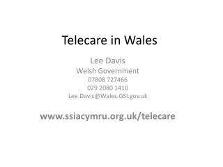 Telecare  in Wales