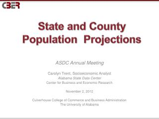 State and County Population  Projections