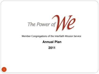 Interfaith Mission Service  Annual Plan 2011
