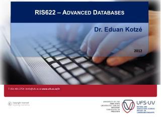 RIS622 – Advanced Databases