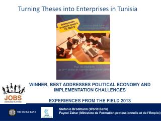 Turning Theses into Enterprises in Tunisia