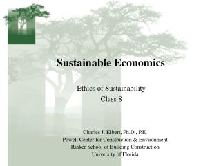 Sustainable Economics