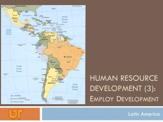 Human Resource Development (3):  Employ Development