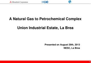 A Natural Gas to Petrochemical Complex  Union Industrial Estate, La Brea