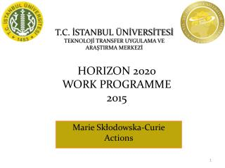 HORIZON 2020  WORK PROGRAMME  201 5