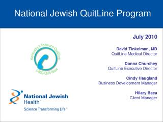 National Jewish QuitLine Program