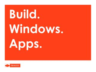 Build. Windows. Apps.
