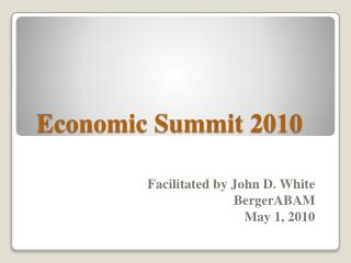 Economic Summit 2010