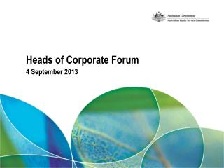 Heads of Corporate Forum