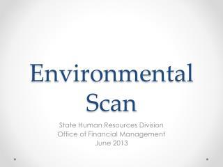 environmental scan for myspace