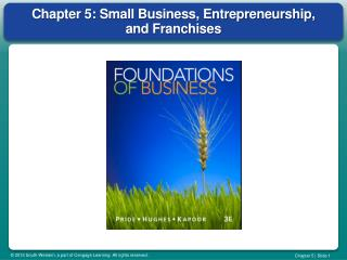 Chapter 5: Small Business, Entrepreneurship, and Franchises