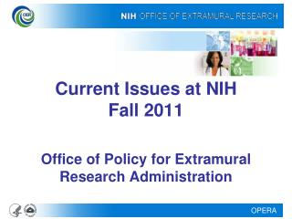 Current Issues at NIH Fall 2011