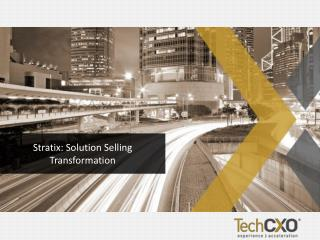 Stratix : Solution Selling Transformation