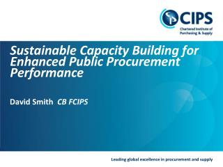 Sustainable Capacity Building for Enhanced Public Procurement Performance