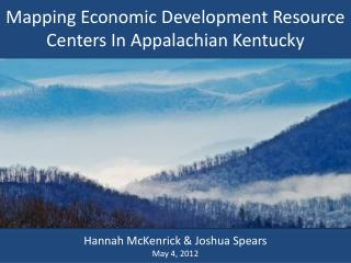 Mapping Economic Development Resource Centers In Appalachian Kentucky
