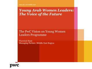 Young Arab Women Leaders: The Voice of the Future
