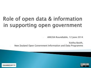 Role of open data & information in supporting open government