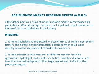 PROPOSED STRUCTURE FOR THE TRANSFORMATION OF AGRICULURAL INDUSTRY OF THE DEVELOPING COUNTRIES TO ATTRACT MORE LOCAL AND