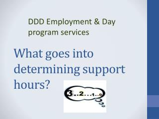 What goes into determining support hours?