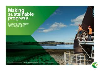 Making sustainable progress.
