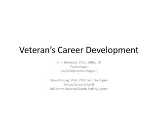 Veteran's Career Development