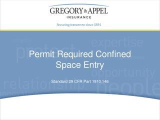 Standard 29 CFR Part 1910.146