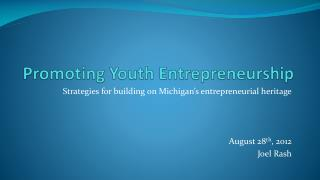 Promoting Youth Entrepreneurship