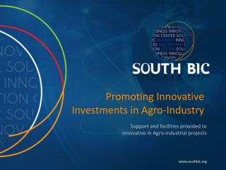 Promoting Innovative Investments in Agro-Industry